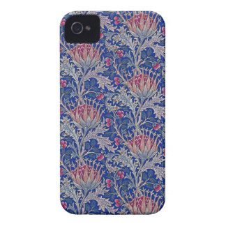 blue pink thistle iPhone 4 case