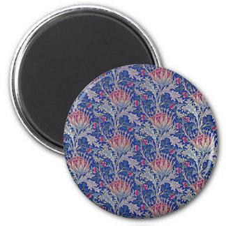 blue pink thistle magnet