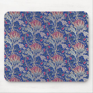 blue pink thistle mouse pad