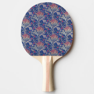 blue pink thistle ping pong paddle
