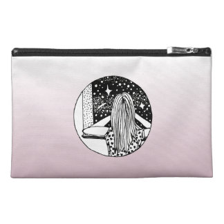 Blue/Pink Wild Dreamer Travel Accessories Bag