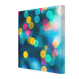 Blue, Pink & Yellow Abstract Lights Canvas Prints