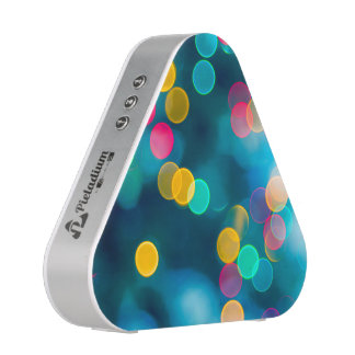 Blue, Pink & Yellow Abstract Lights Bluetooth Speaker