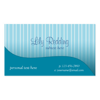 Blue Pinstripe Buisness Card Business Cards