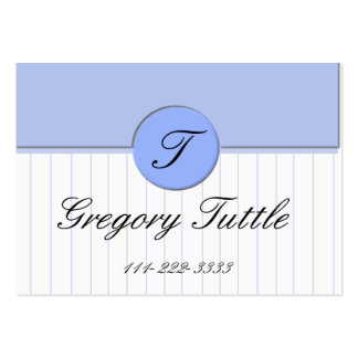 Blue pinstripe Calling Card Business Card Template