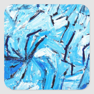 Blue Pinwheels ( abstract expressionism ) Square Sticker