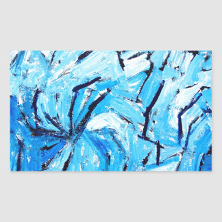 Blue Pinwheels abstract expressionism Sticker