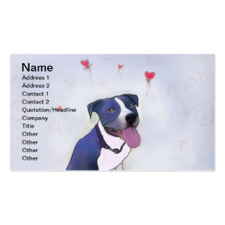 Blue Pit Bull Good Dog Business Card Template