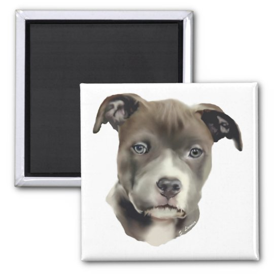 Blue Pitbull Magnet