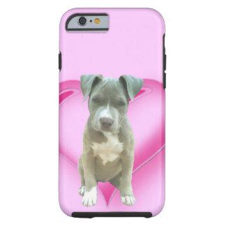Blue pitbull puppy tough iPhone 6 case