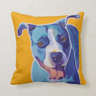 Blue PITBULL Throw Cotton Art Pillow