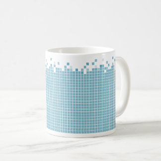 Blue Pixels Geek Coffee Mug