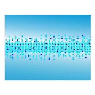 Blue Pixels Postcard