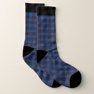 Blue Plaid and black socks 1