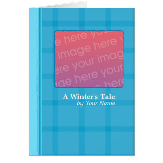 Blue Plaid Book Card