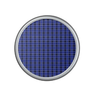 Blue Plaid Bumpster Speaker