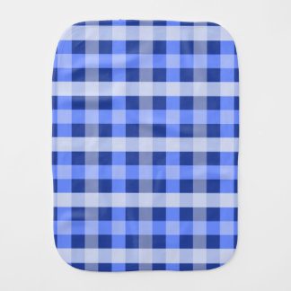 Blue Plaid Burp Cloth