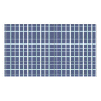 Blue Plaid Business Card Template