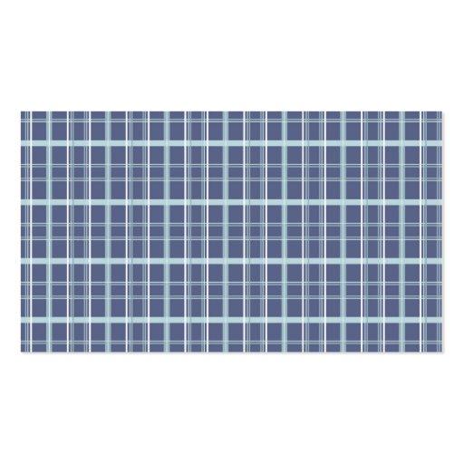 Blue Plaid Business Card Template