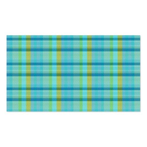 Blue Plaid Business Card