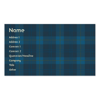 Blue Plaid - Business Pack Of Standard Business Cards
