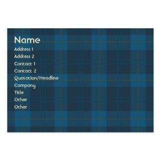 Blue Plaid - Chubby Business Cards