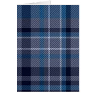 Blue Plaid Design Card