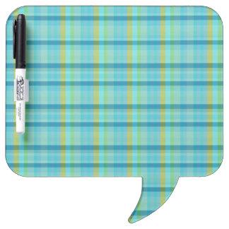 Blue Plaid Dry Erase Board