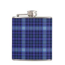 Blue Plaid Flask