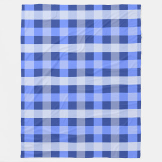 Blue Plaid Fleece Blanket