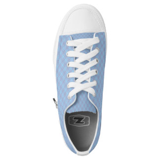 Blue Plaid Hashtag Baby Blue Girly Girl Low Tops