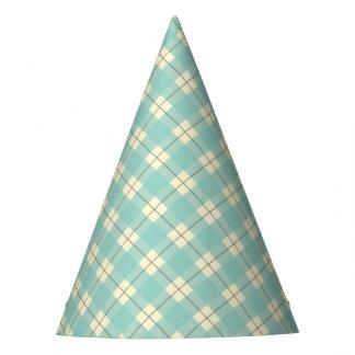 Blue Plaid Party Hat