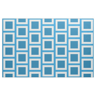 Blue Plaid Patchwork Fabric