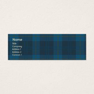 Blue Plaid - Skinny Mini Business Card