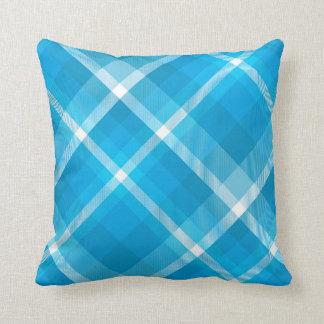 Blue Plaid Unique Pillow