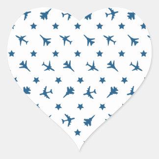 Blue Planes Pattern Stickers