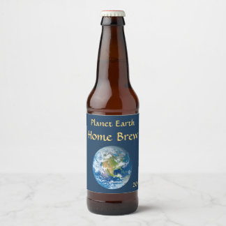 Blue Planet Earth Beer Label