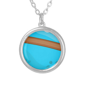 Blue Planet Silver Plated Necklace