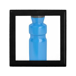Blue plastic bottle gift box