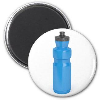 Blue plastic bottle magnet