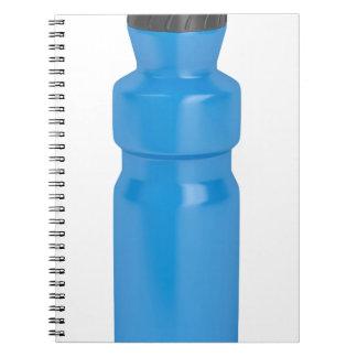 Blue plastic bottle notebooks