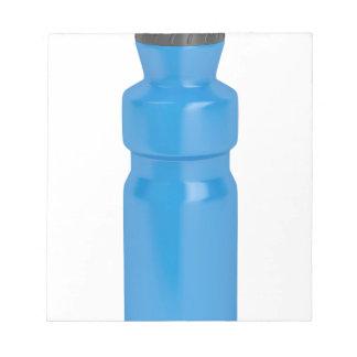 Blue plastic bottle notepad