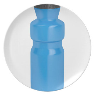Blue plastic bottle plate