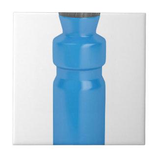 Blue plastic bottle tile