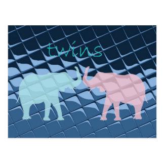 Blue Plastic Tiles Postcard