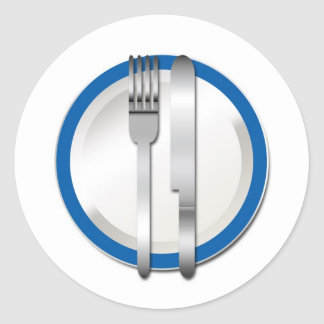 Blue Plate Special Classic Round Sticker