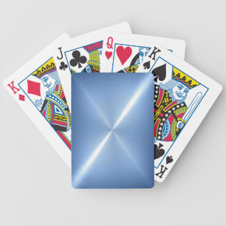 Blue Platinum Stainless Shiny Metal Bicycle Playing Cards