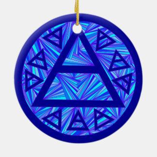 Blue Plato's Air Sign Ancient Triad Tree Ornament
