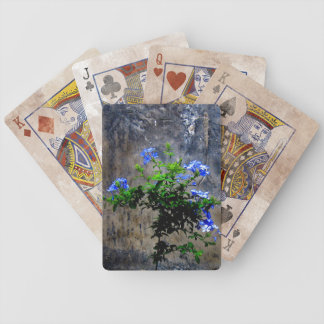 Blue Plumbago Flower Bicycle Playing Cards