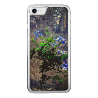 Blue Plumbago Flower Carved iPhone 7 Case